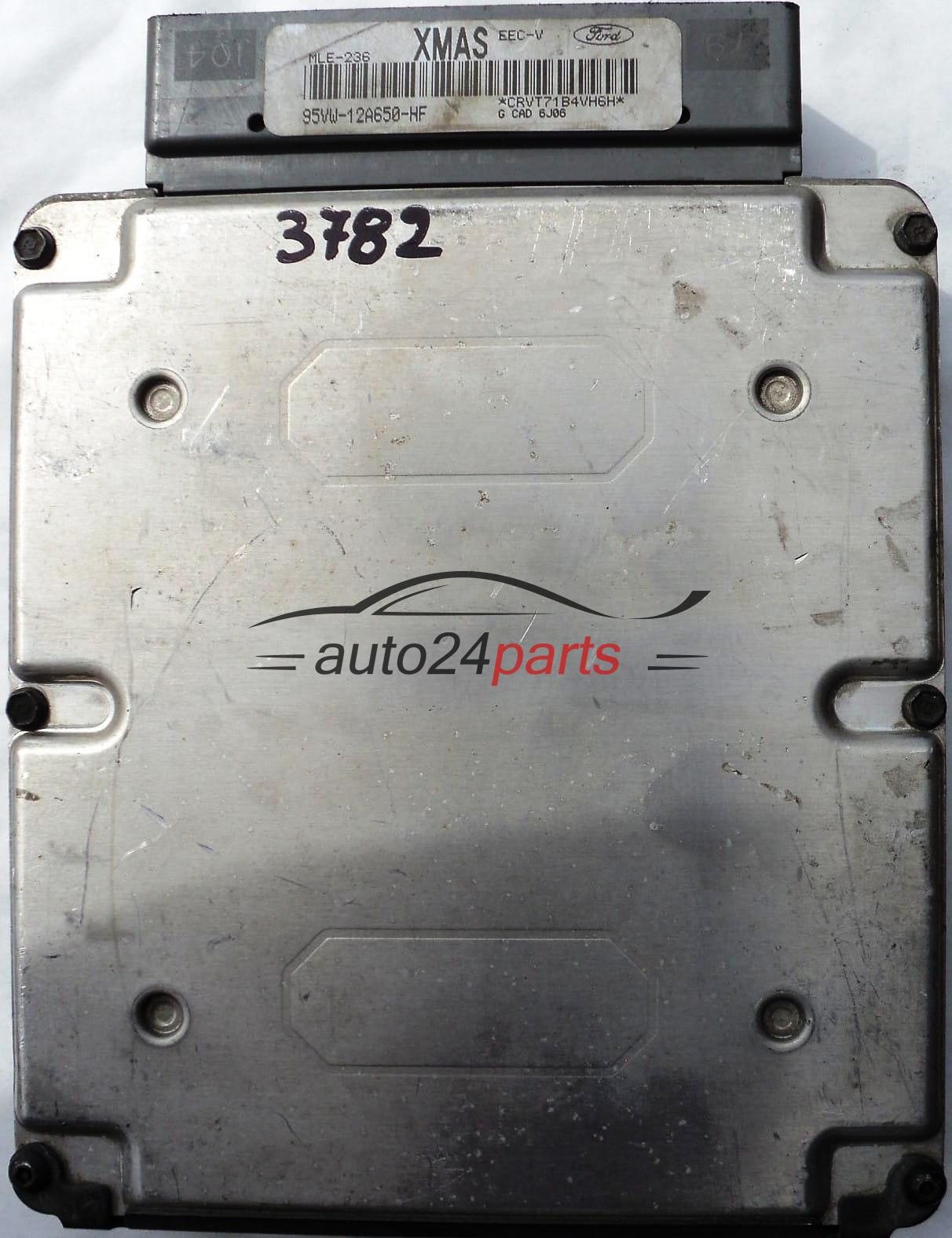 ECU ENGINE CONTROLLER FORD GALAXY 2 3 95VW12A650HF XMAS MLE-236 EEC-V,  95VW-12A650-HF