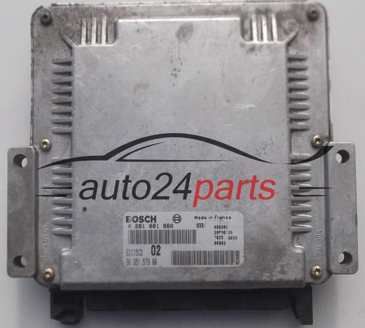 ECU ENGINE CONTROLLER PEUGEOT 206 2.0 HDI BOSCH 0 281 001 866 ...