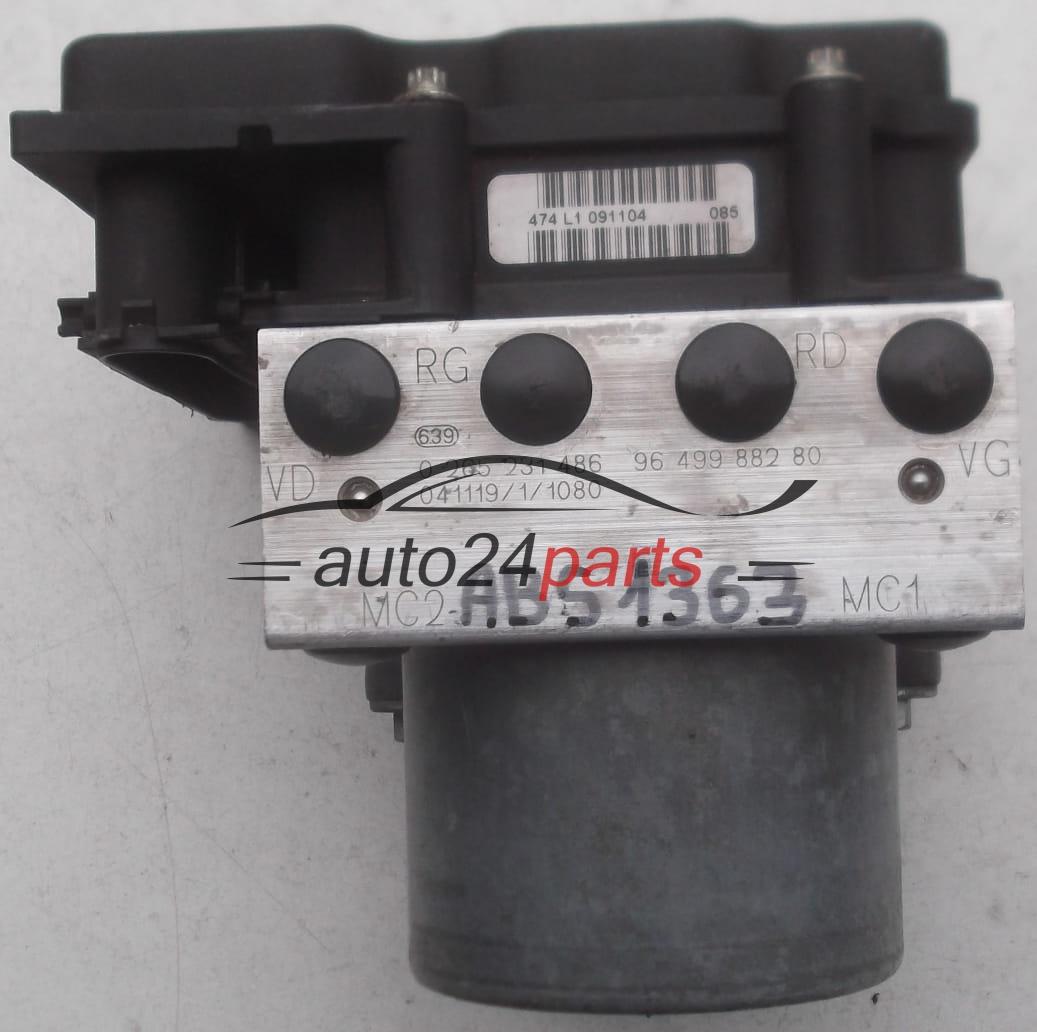 Abs Pump Citroen C4 Peugeot 307 Bosch 0 265 231 486