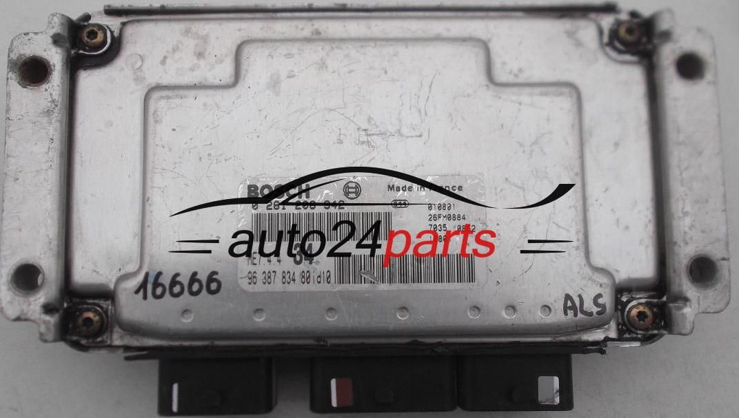 ECU ENGINE CONTROLLER PEUGEOT 206 1.6 BOSCH 0 261 206 942 ...