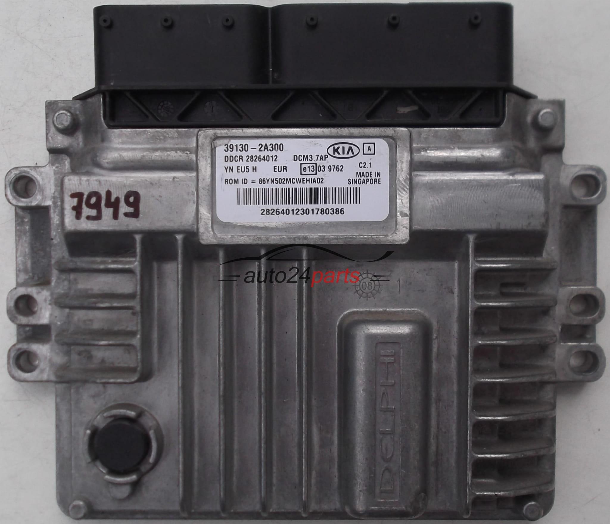 ECU ENGINE CONTROLLER KIA VENGA 1 4 CRDI, 39130-2A300, 391302A300,  DDCR28264012, DCM3 7AP