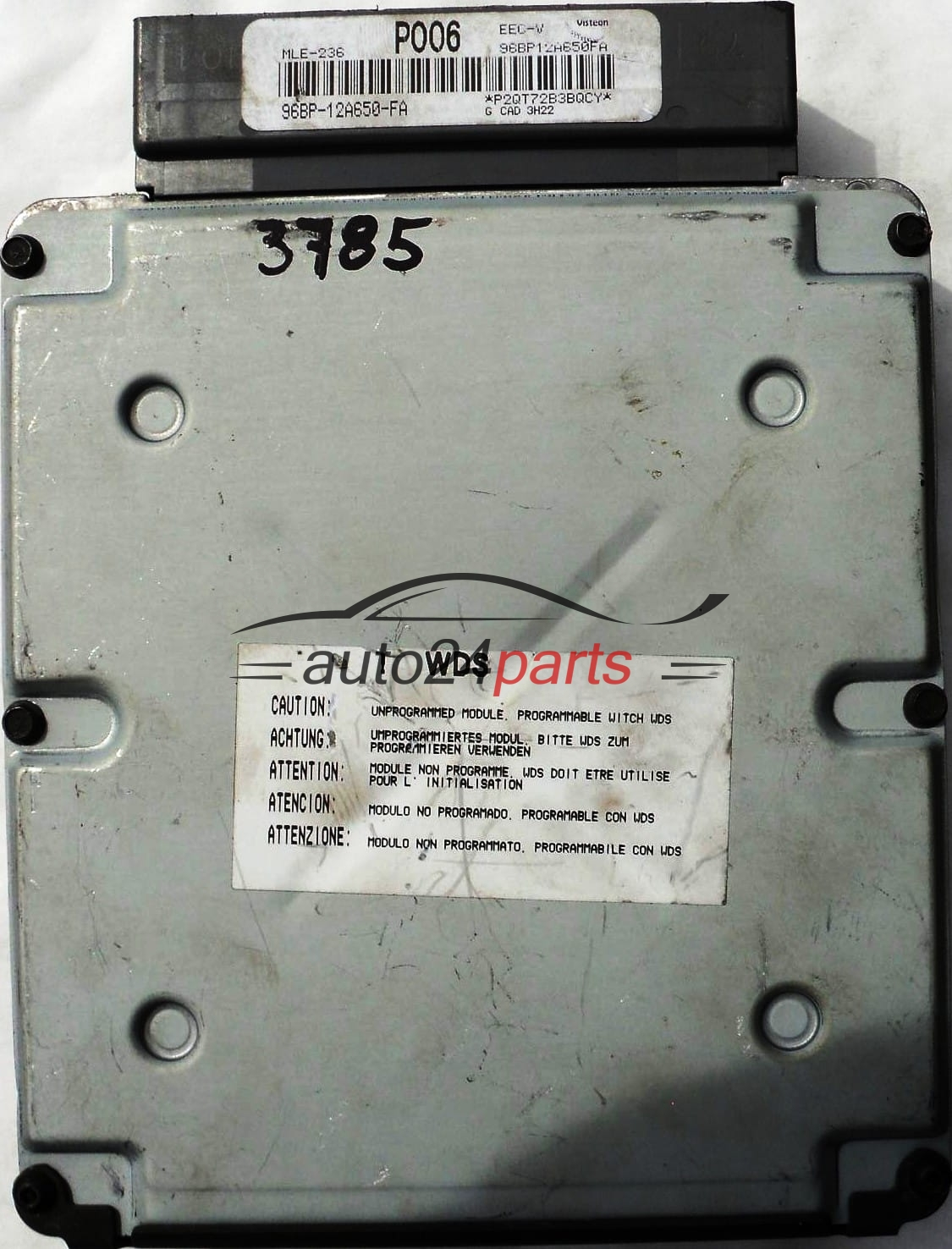 ECU ENGINE CONTROLLER FORD GALAXY 2 0 96BP12A650FA POO6 MLE-236 EEC-V,  96BP-12A650-FA