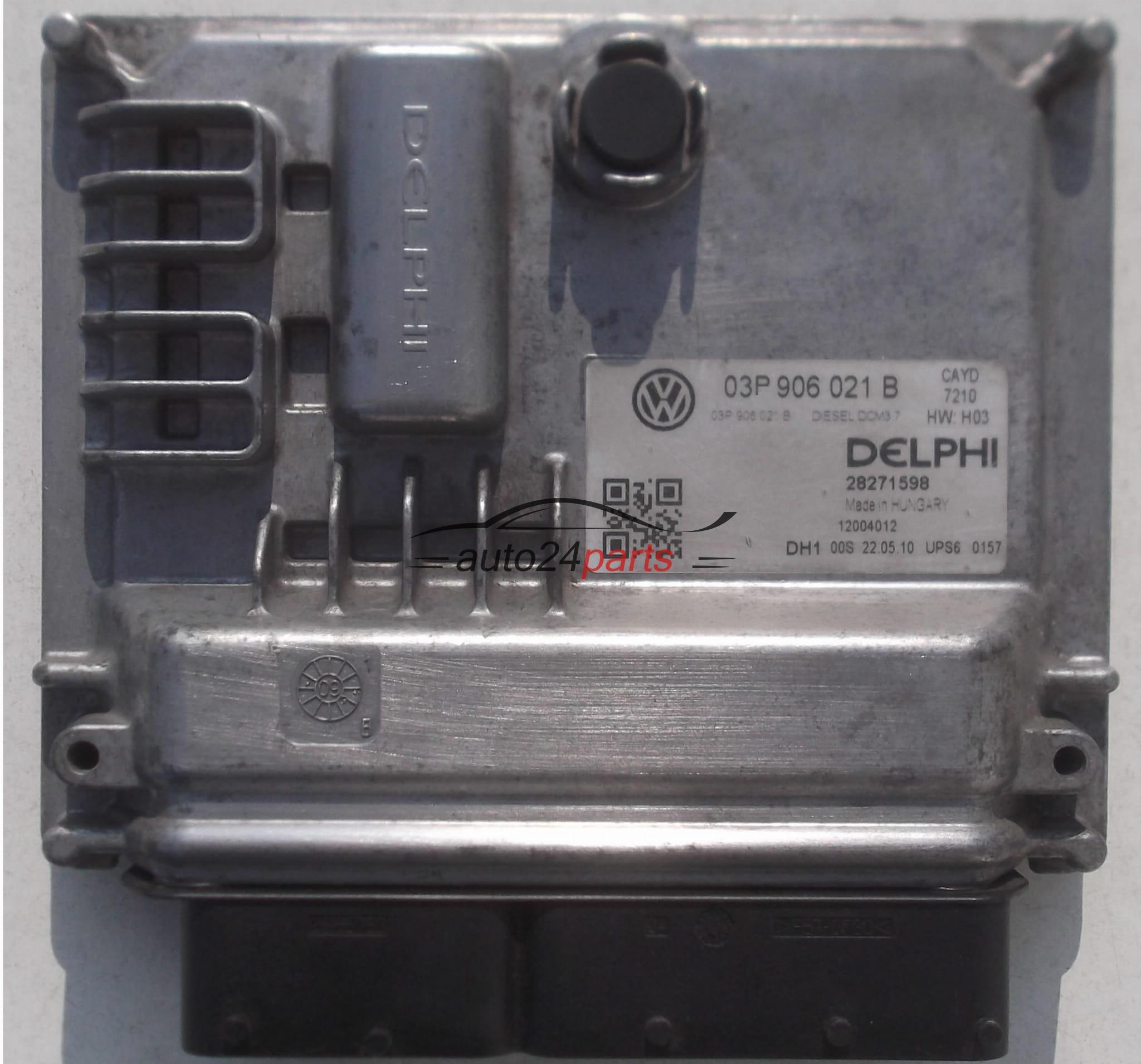 ECU ENGINE CONTROLLER VOLKSWAGEN POLO 6R 1 2 TDI DELPHI 28271598, 03P 906  021 B, 03P906021B