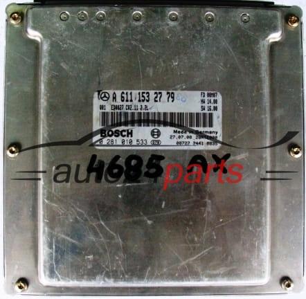ECU ENGINE CONTROLLER MERCEDES W210 E220 2 2 CDI BOSCH 0281010533, 0 281  010 533, A6111532779, 6111532779, A 611 153 27 79
