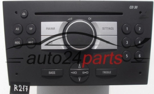 RADIO CD OPEL MERIVA 13 190 854 MC / 13190854MC / 7 644 222 311 / 7644222311 / CD30 - R217