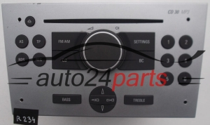 RADIO CD MP3 OPEL MERIVA  7 643 106 317 / 7643106317 / 13 167 832 FJ / 13167832FJ / CD30 - R234, R235