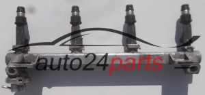 Fuel injector and fuel rail petrol OPEL ASTRA OMEGA VECTRA Y22XE, X22XE GM 90 411 551, 90411551, 25173828