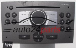 RADIO CD MP3   OPEL ASTRA  13 188 461 LC / 13188461LC / 7 647 103 310 / 7647103310 / CD30 - R218, R220