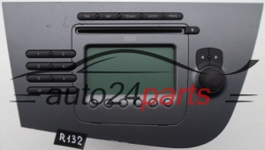 RADIO CD MP3  SEAT 1P1 035 186 B N87 / 1P1035186BN87 / 815 7 646 546 366 / 8157646546366 / 7 646 546 366 / 7646546366 - R132, R165, R99