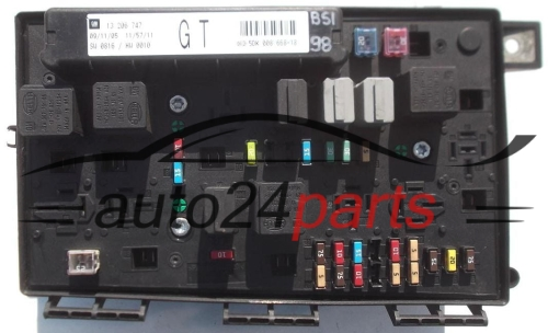 fuse relay box electrical comfort module opel astra h zafira b gm 13 206 747 gt