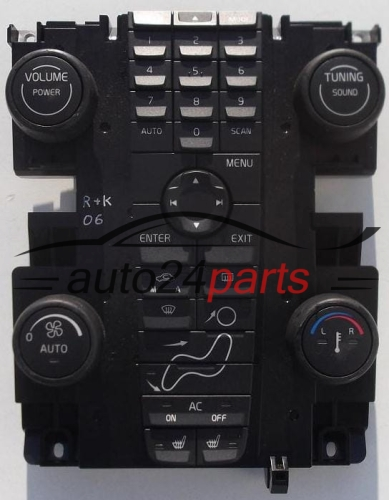 control panel cd radio climatronic volvo v50 s40 30739249. Black Bedroom Furniture Sets. Home Design Ideas