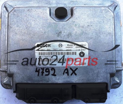 ECU ENGINE CONTROLLER JEEP GRAND CHEROKEE 3 1 TD BOSCH 0 281 001 767,  0281001767, P56029114AE, WB4AA