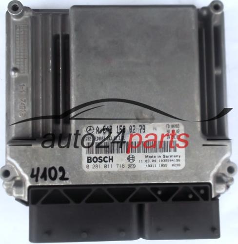ECU ENGINE CONTROLLER MERCEDES W220 S-KLASS 320 CDI A6481500279,  6481500279, A 648 150 02 79 BOSCH 0281011716, 0 281 011 716