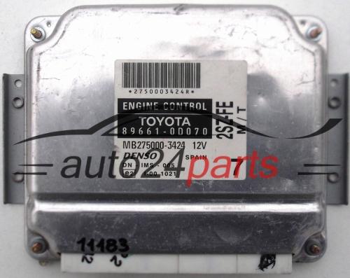 Ecu Engine Controller Toyota Yaris 1 3 Denso 89661 0d070