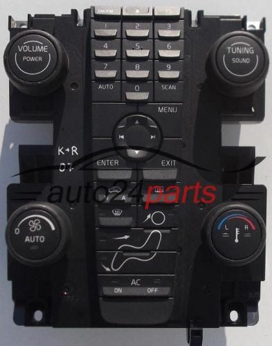 control panel cd radio climatronic volvo v50 s40 8697155. Black Bedroom Furniture Sets. Home Design Ideas