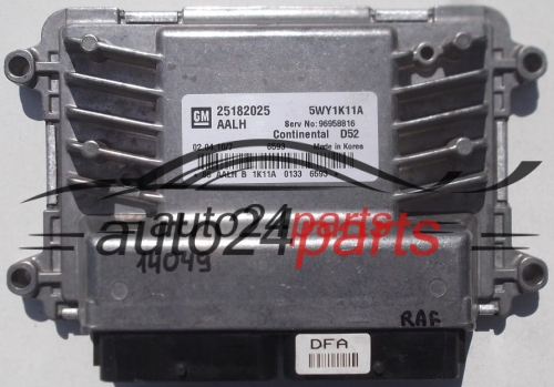 CALCULATEUR MOTEUR CHEVROLET SPARK CONTINENTAL D52 5WY1K11A, GM 25182025 AALH, 96958816