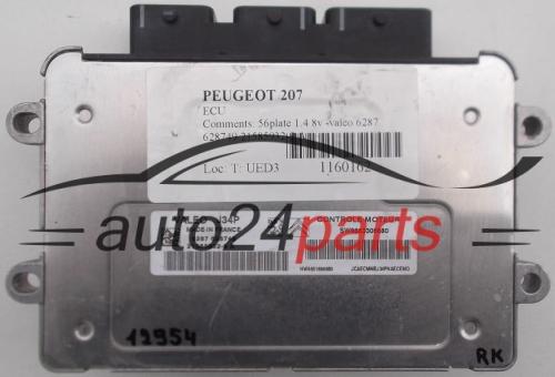 ECU ENGINE CONTROLLER PEUGEOT 207 1 4 VALEO J34P 21585932-9 A, 215859329A,  SW9663306680, 9663306680