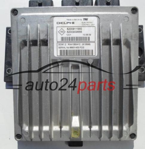 ECU ENGINE CONTROLLER RENAULT KANGOO 1 5 DCI Delphi R0410B041C, 8200911560,  8200909666